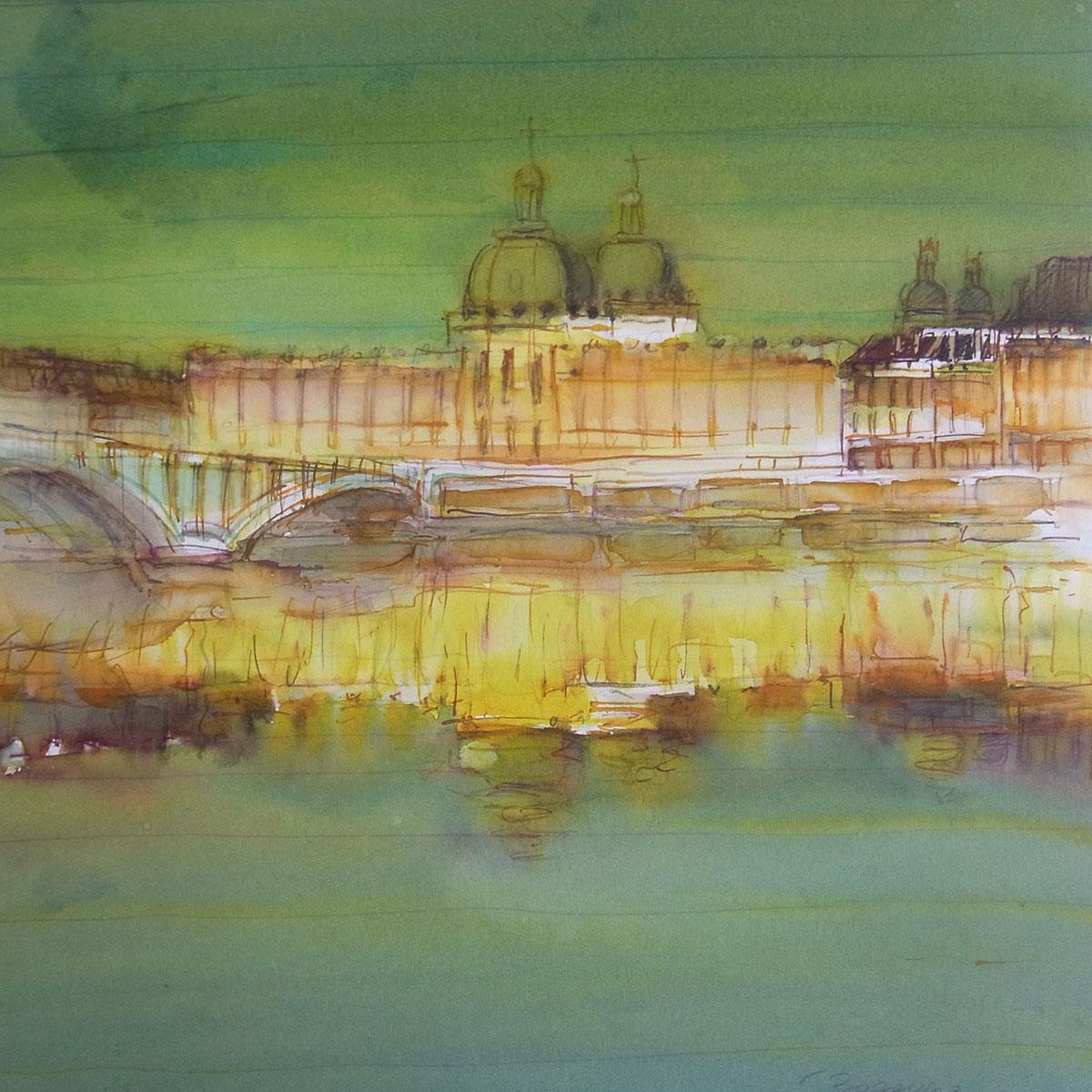paysage aquarelle 8