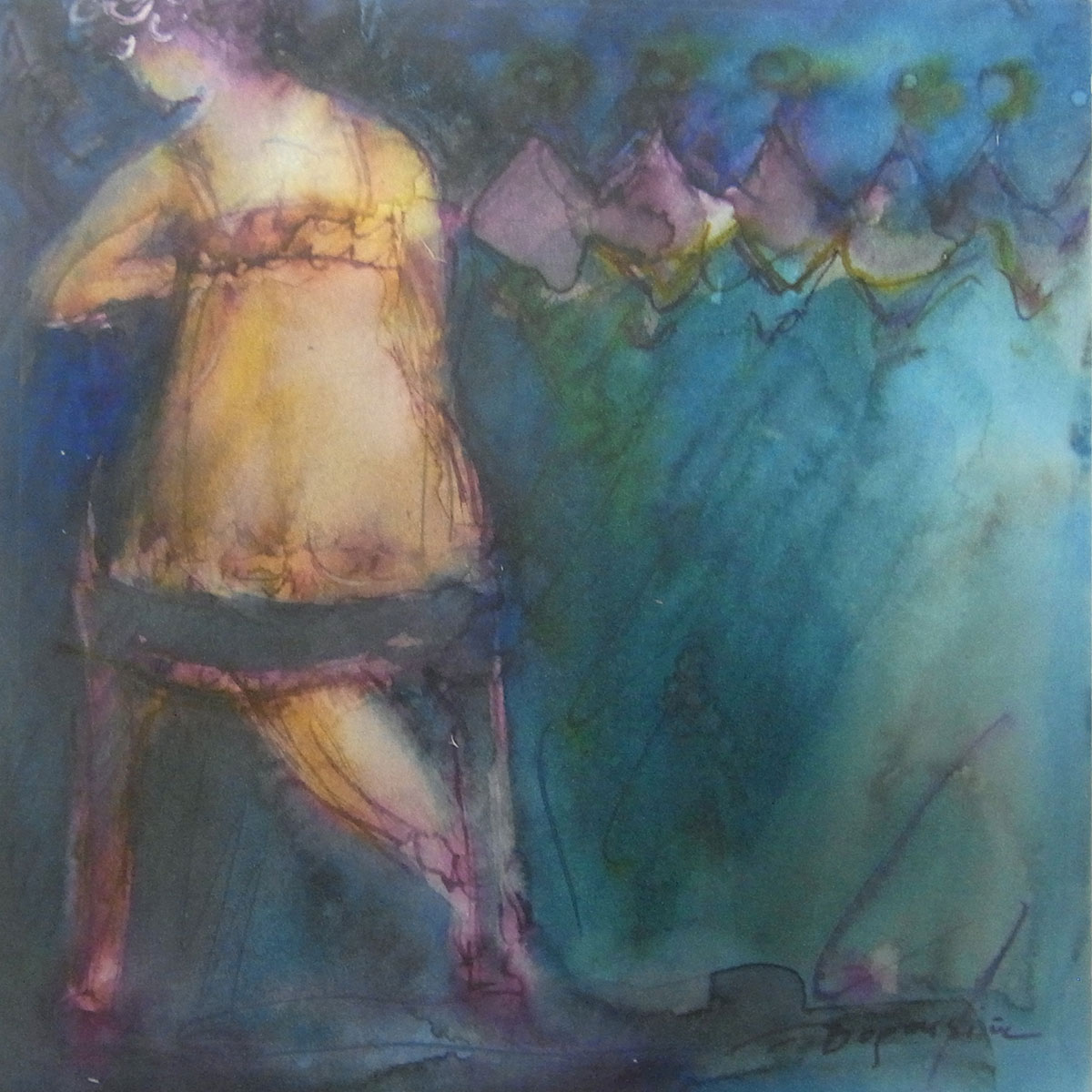 femme aquarelle 8