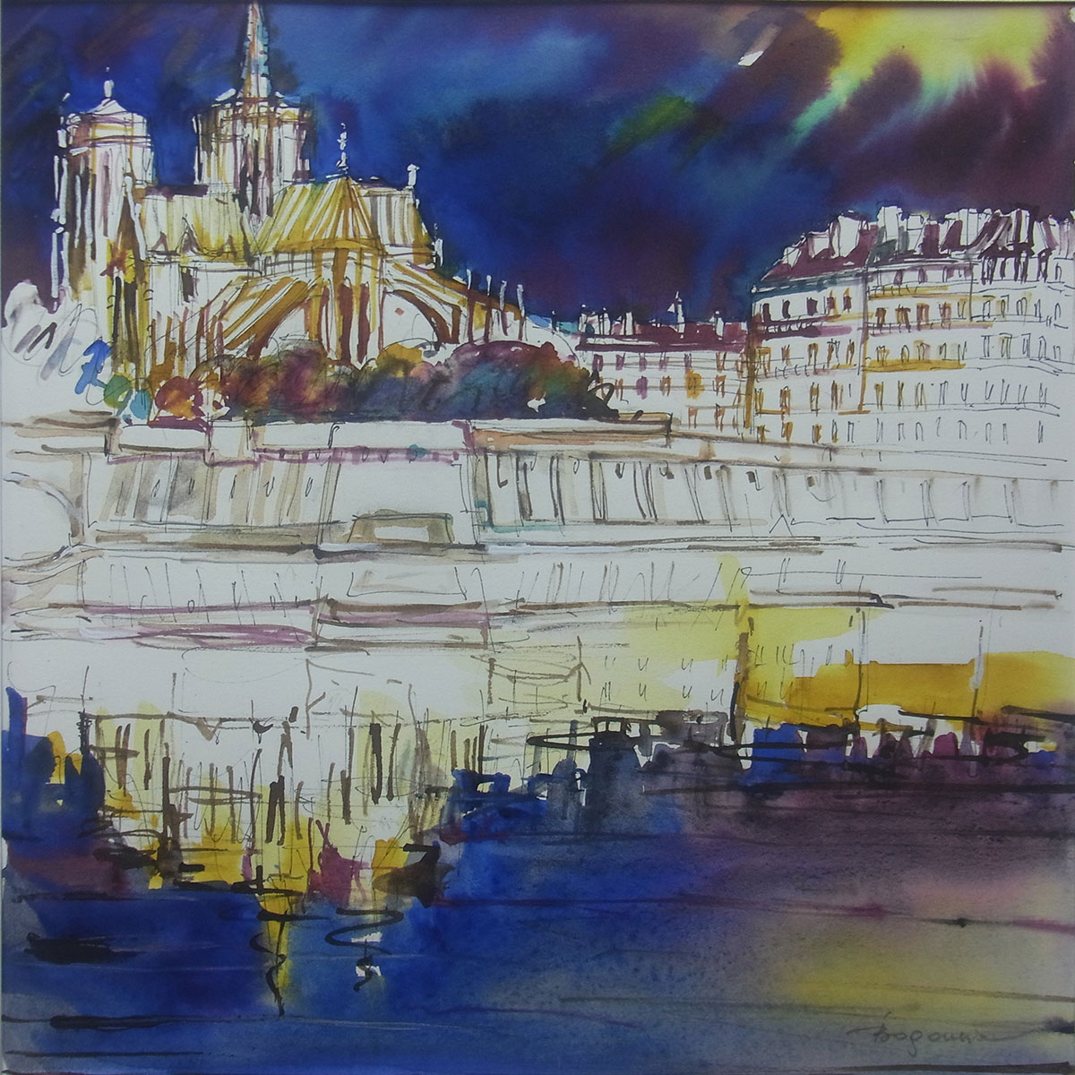 paysage aquarelle 9